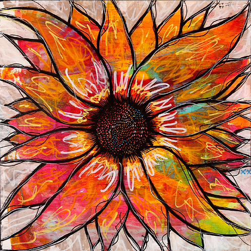 "Greeting Card of ""London Sunflower"""