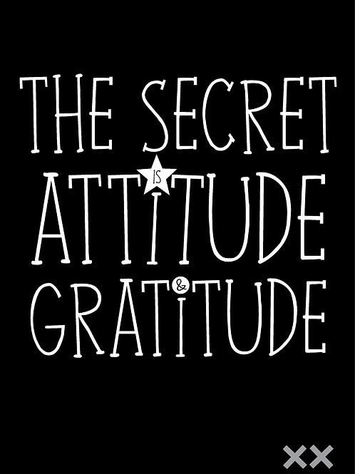 The Secret is Attitude and Gratitude