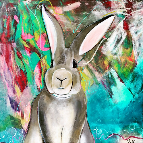 "Print of ""Grey Rabbit"""