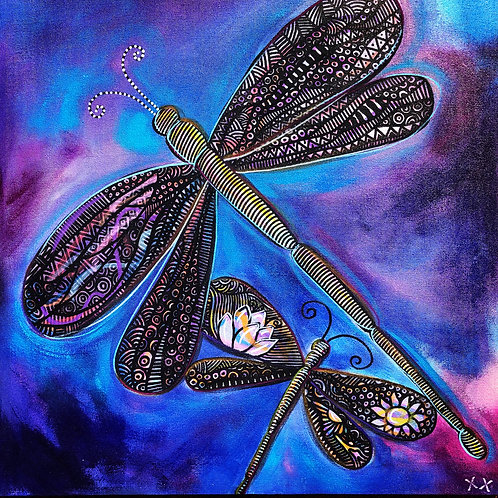 "Greeting Card of ""Dragonfly Doodle"""
