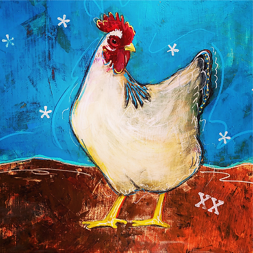 "Greeting Card of ""Chicken Rita"""