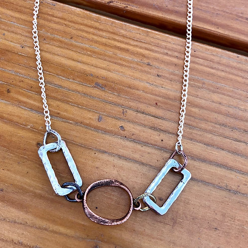 """Mixed Metal Necklace - 17"""""""