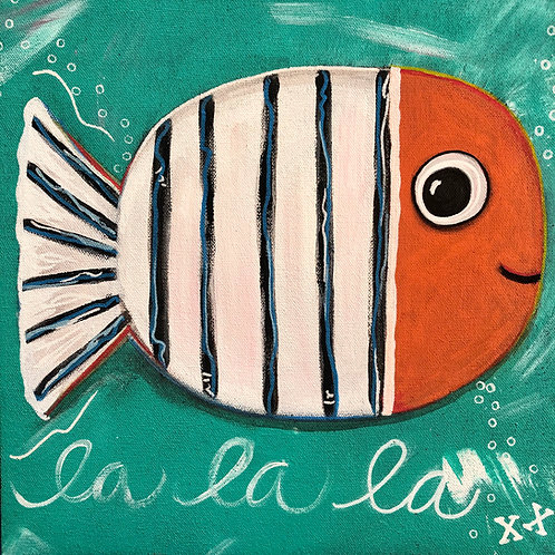 "Greeting Card of ""Happy Fish"""