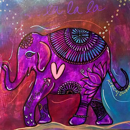 "Greeting Card of ""Elephant La La La"""