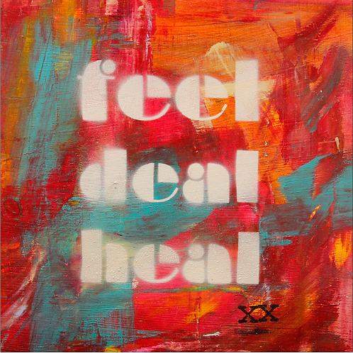 "Print of ""Feel Deal Heal Art Walk"""