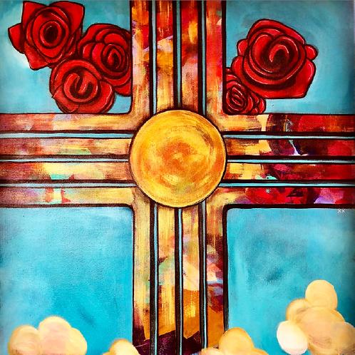 "Greeting Card of ""Sandia Sunrise"""