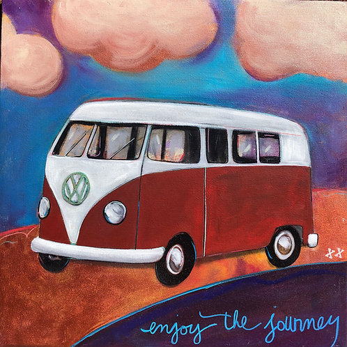 Red VW Bus Journey
