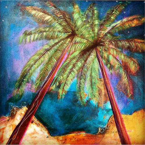 "Greeting Card of ""Palm Tree Romance"""