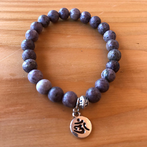 Turkish Gemstone Bracelet with Om Charm