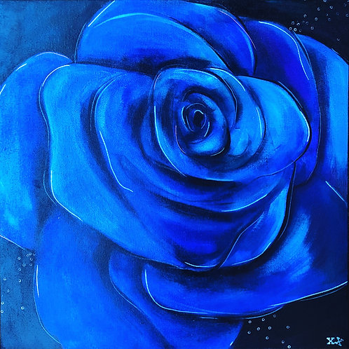 "Print of ""Blue Rose"""