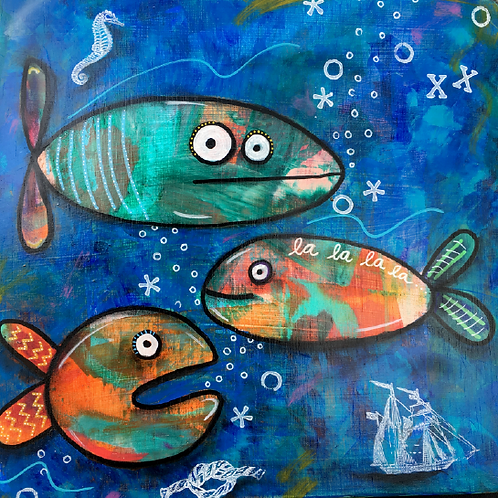 "Print of ""Three Fish"""