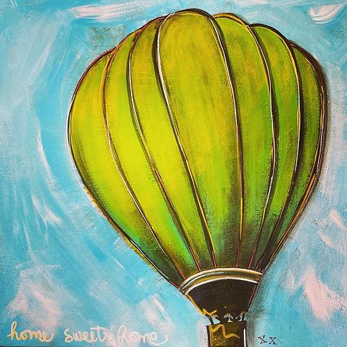 Home Sweet Home Green Balloon