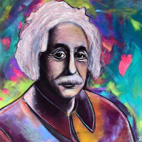 """Print of """"Einstein in Color"""""""