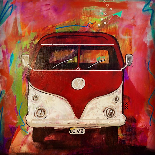 "Greeting Card of ""Love Bus"""