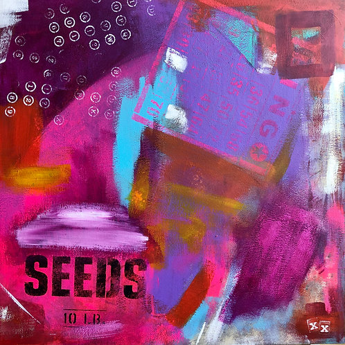 "Greeting Card of ""Planting Purple Seeds"""