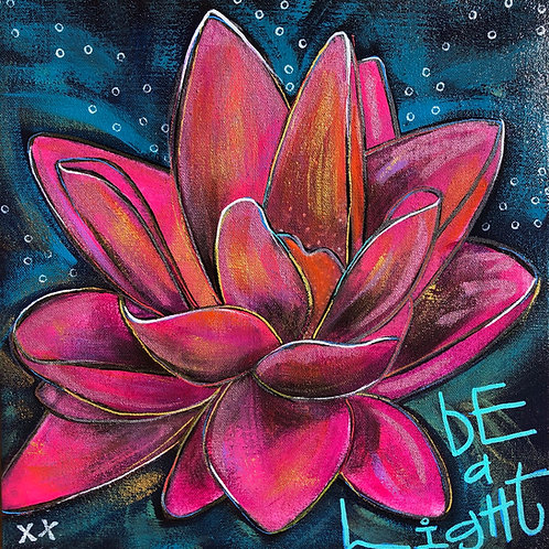 "Greeting Card of ""Be a Light"""