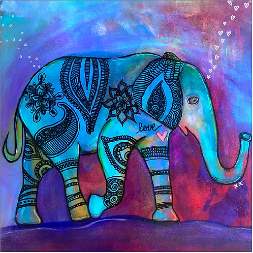 "Greeting Card of ""Elephant Rose"""