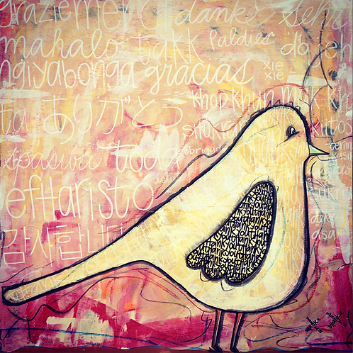 "Greeting Card of ""A Bird's View of Gratitude"""