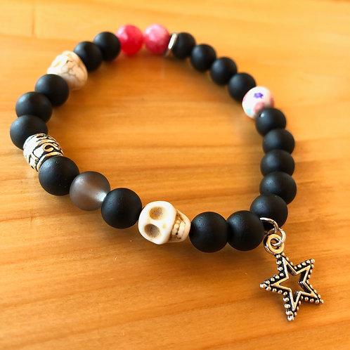 Dia de Los Muertos Bracelet with Star Charm