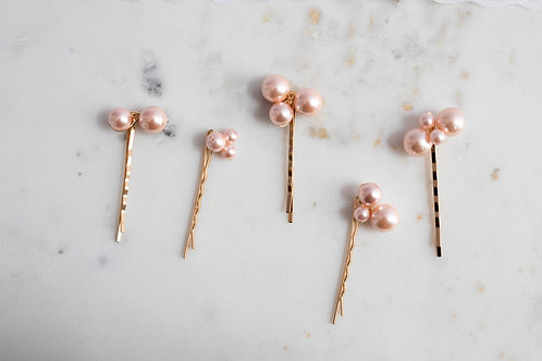 Perlenklammer in rosa