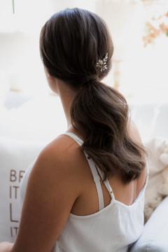 Hochzeitsfrisur mit Pferdeschwanz Braut aus Dortmund