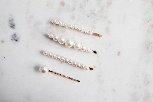"Haarklammern ""Perlen"" in verschiedenen Designs"