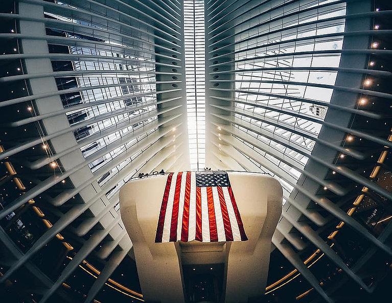 american-flag-architecture-building-ceil