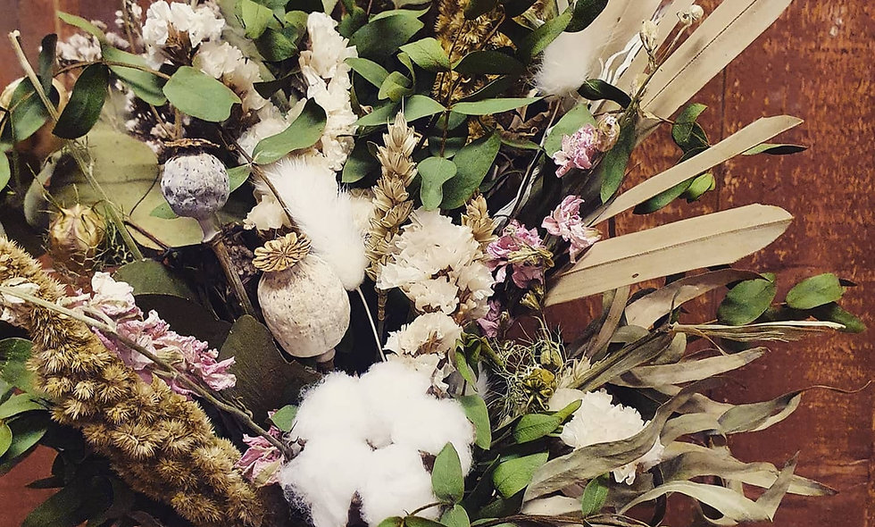 Dried Floral hand tied posy