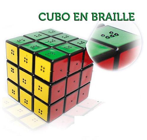 CUBO RUBIK EN BRAILLE