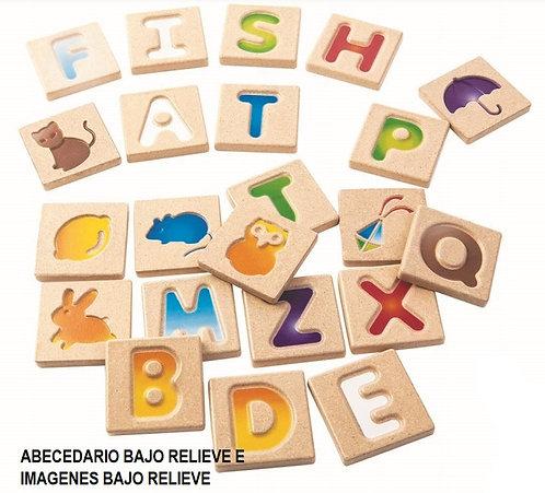 abecedario bajo relieve e imagenes bajo relieve