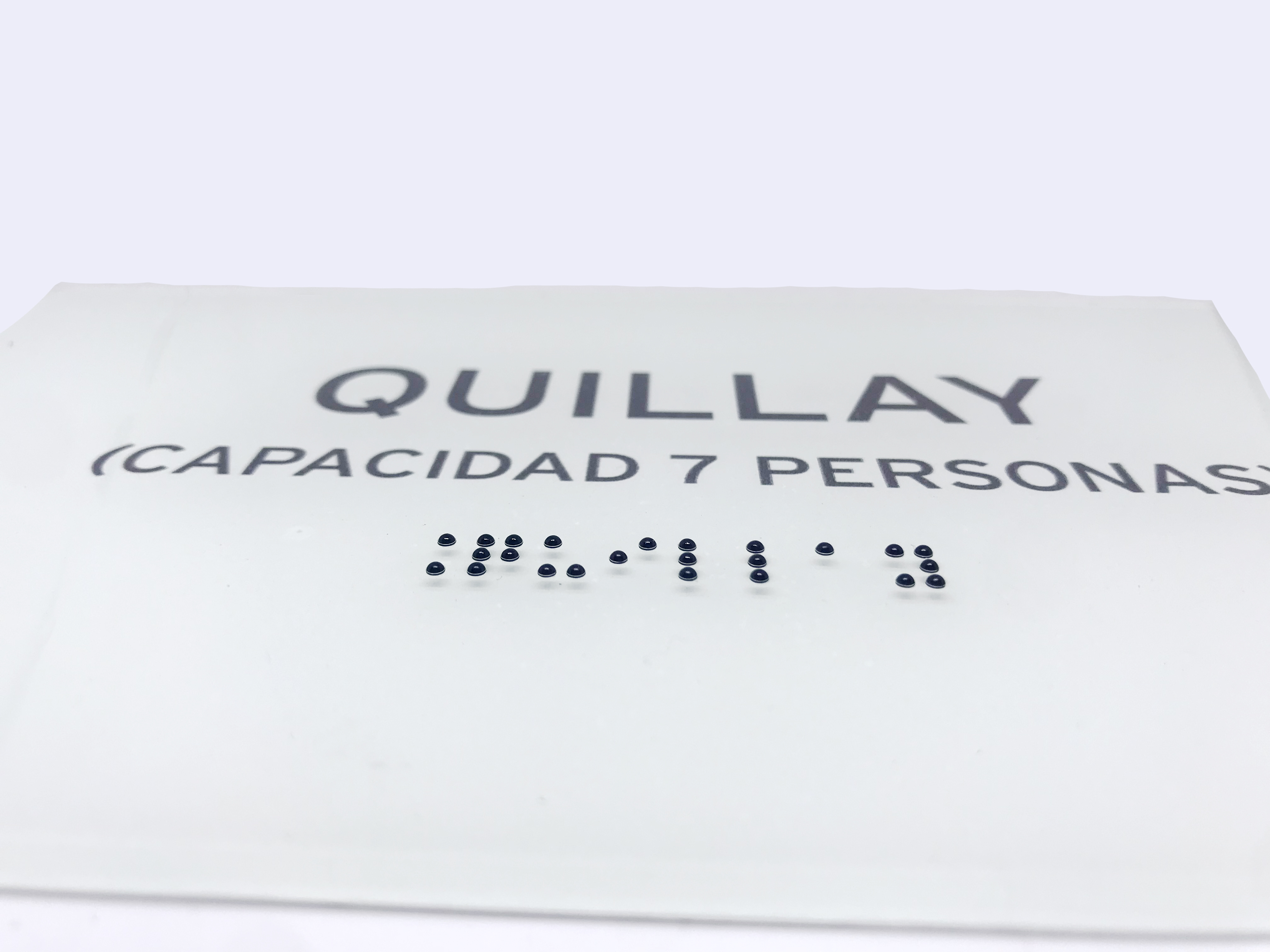placa acrilico braille