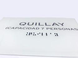 placa acrilico braille