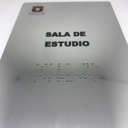 señaletica acero inox braille