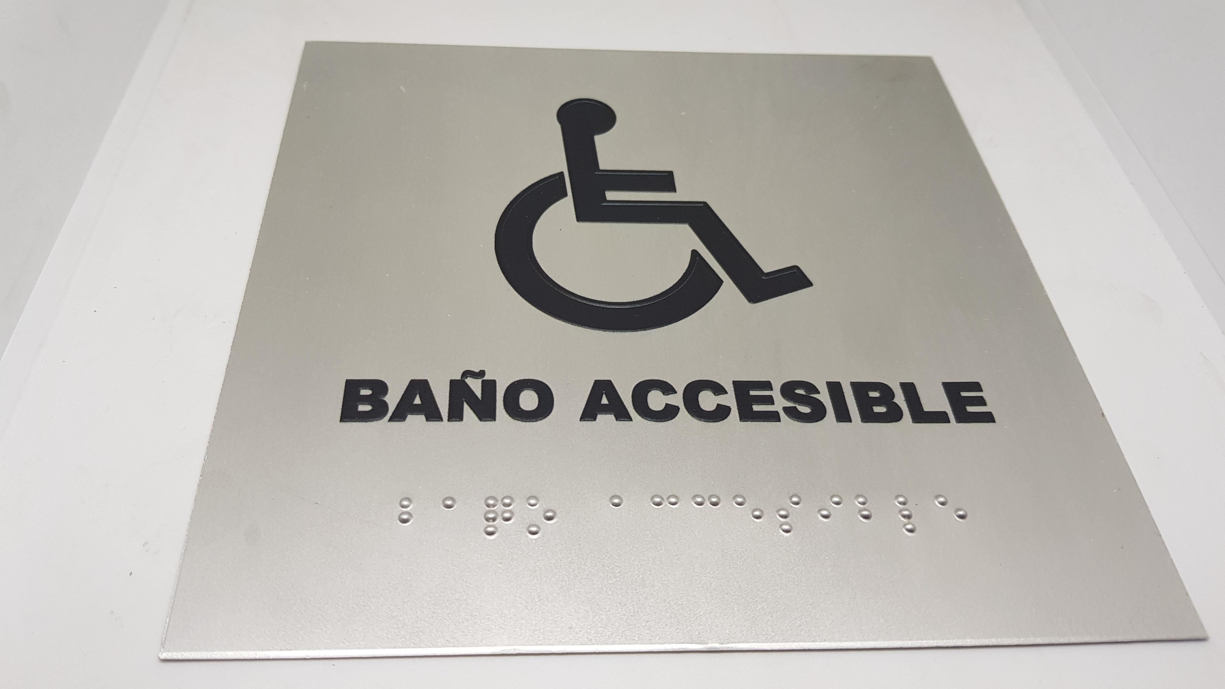 señaletica braille 3d