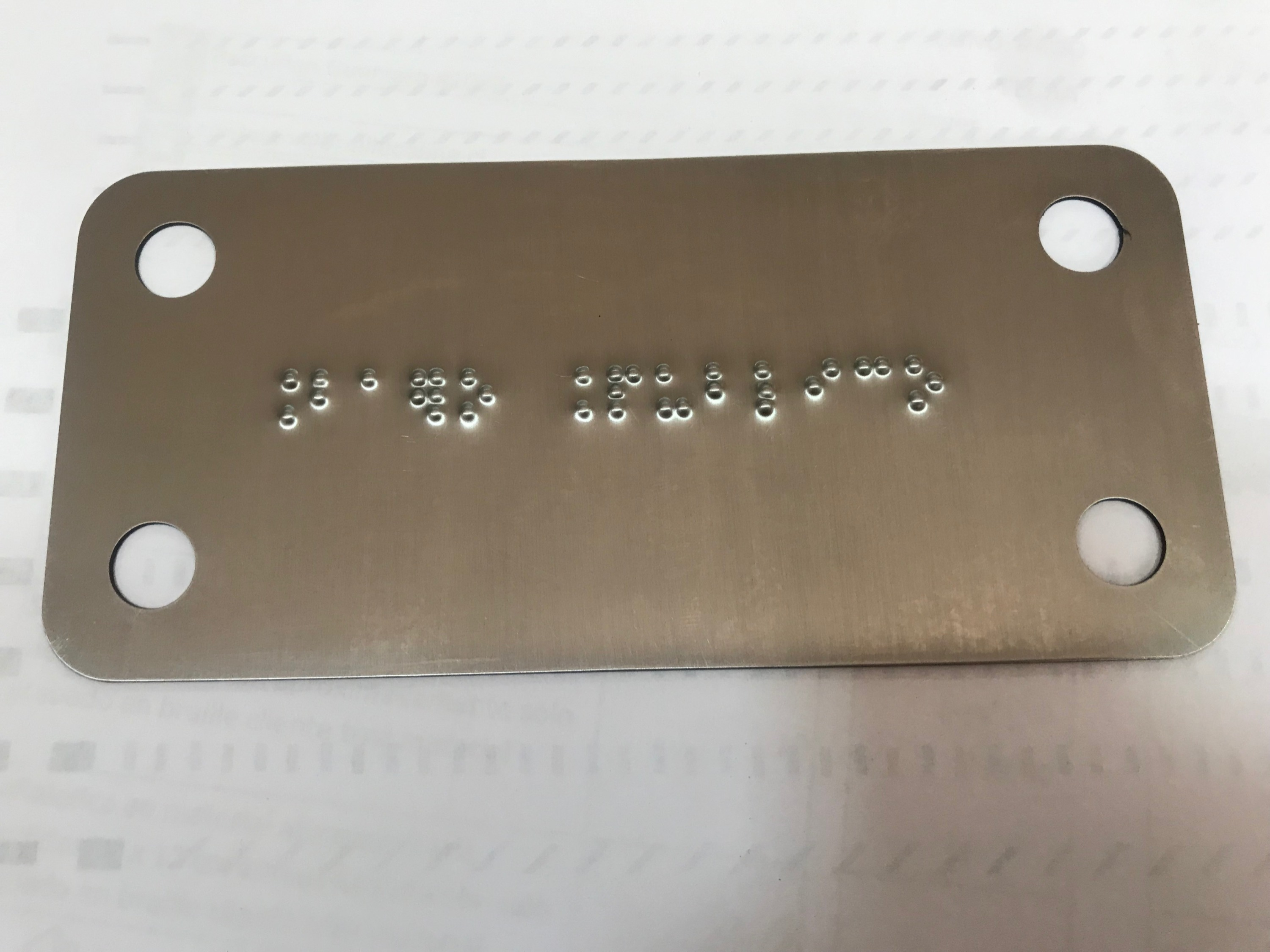 ACERO INOXIDABLE BRAILLE