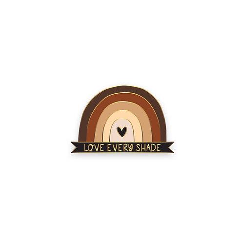 love every shade lapel pin