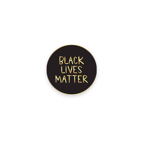 black lives matter lapel pin