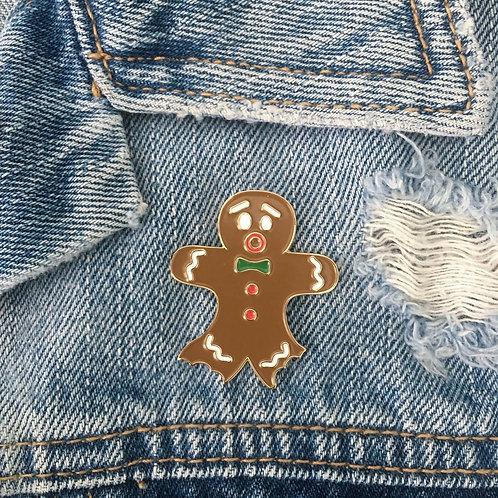 gingerbread man enamel pin