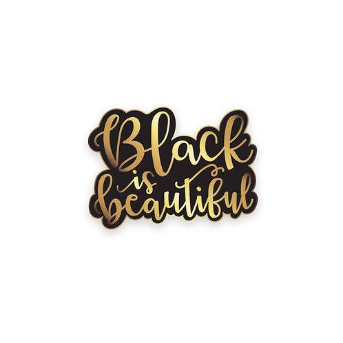 black is beautiful lapel pin