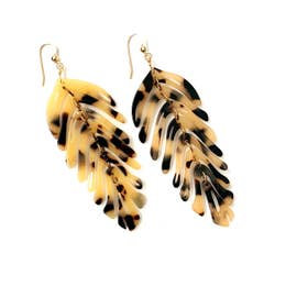 leaf earrings - sandy