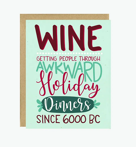 a wine holiday card