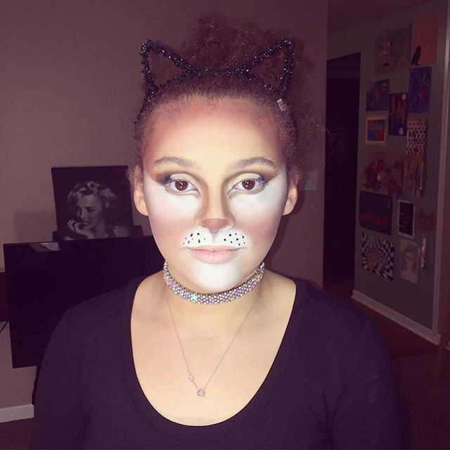 My little Furball as a cat for her dance 😍 so happy that I am painting so many felines this year! L