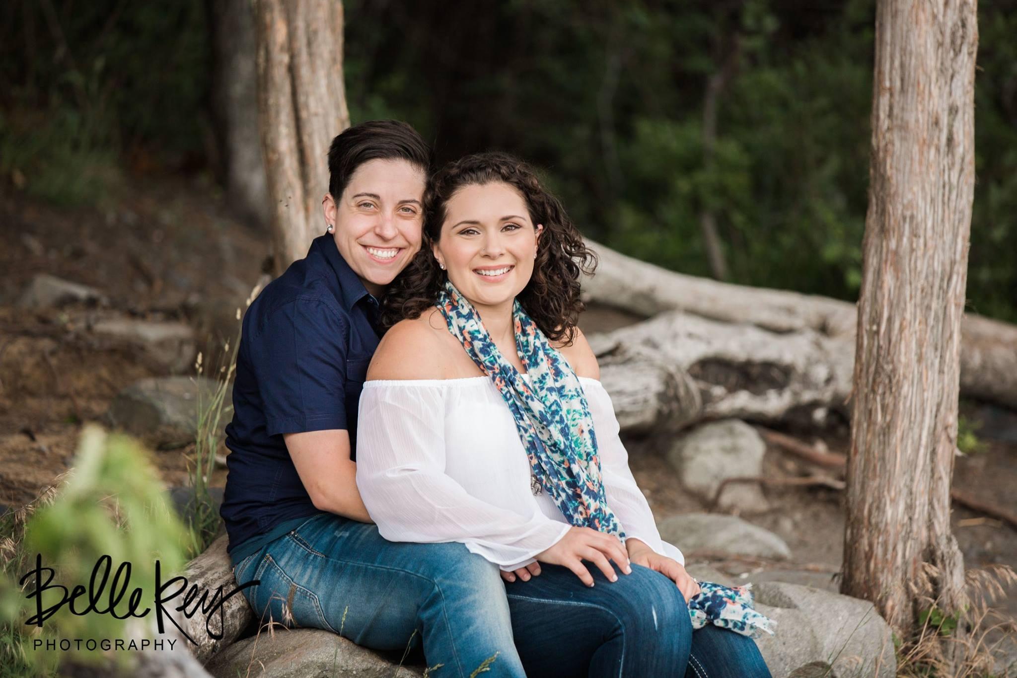 Michaela and Norah's engagement