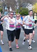 Three intrepid runners