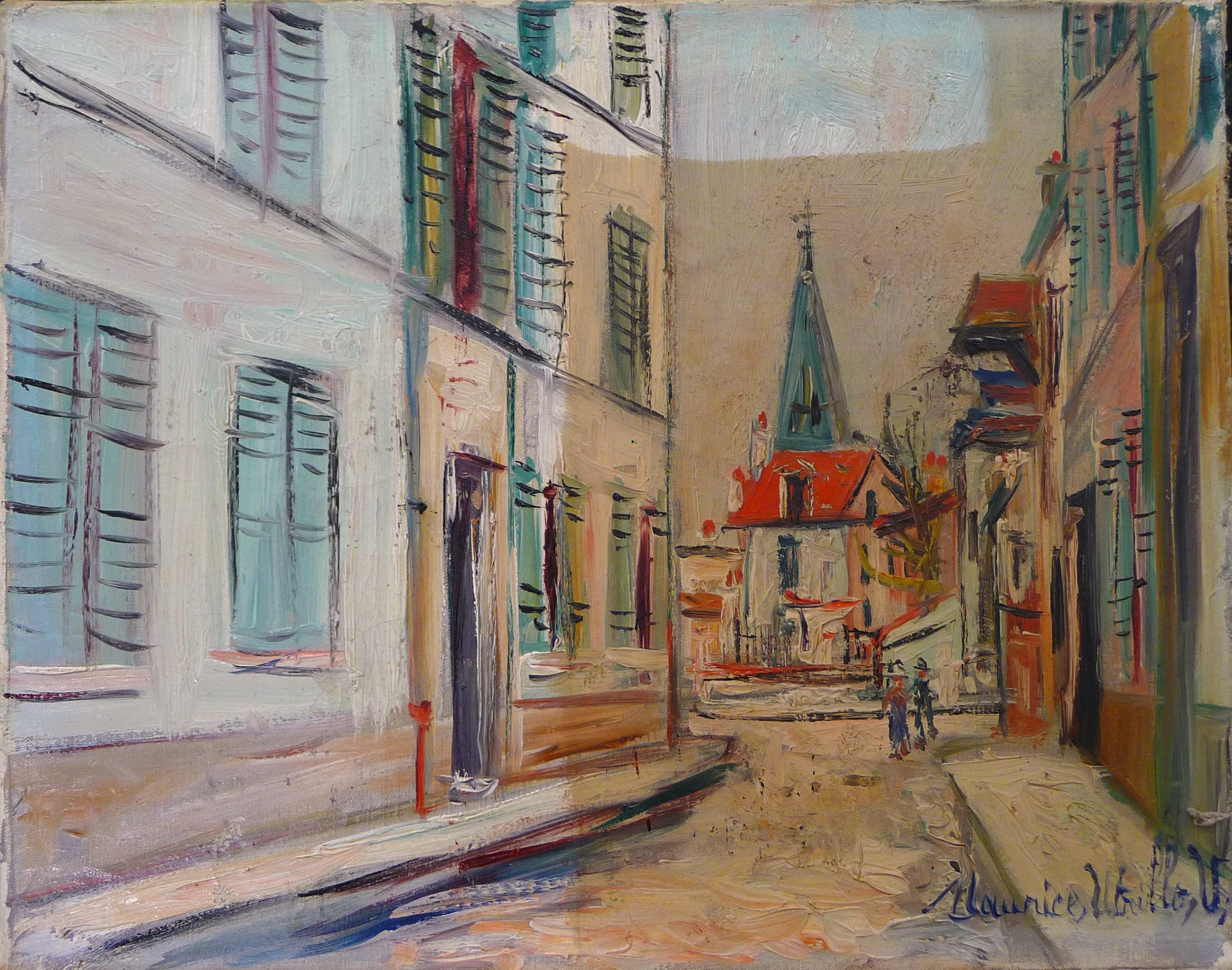 Restauration paysage d'Utrillo