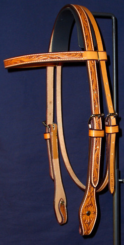 Flower Stamped Browband Headstall