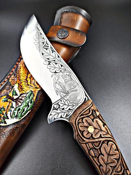 Gravürlü doğa bıçağı