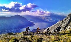 Biking to Kotor with stunning views