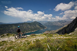 Biking above Kotor to stunning views