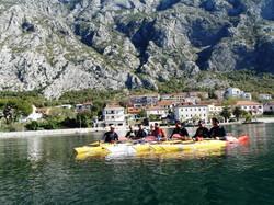 Kayaking around Dobrota